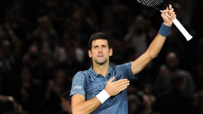 Djokovic in halve finale tegen Federer in Parijs - Knieblessure houdt Keys uit halve finales WTA Elite Trophy