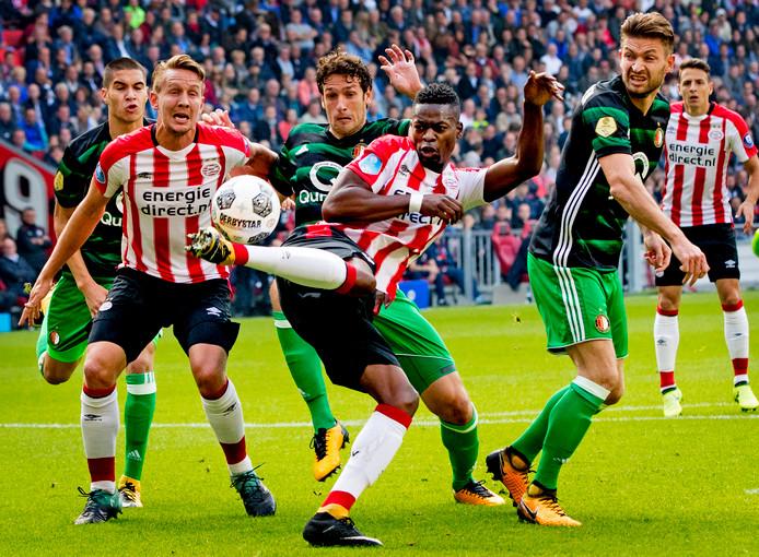 PSV - Feyenoord in het seizoen 2017/2018.