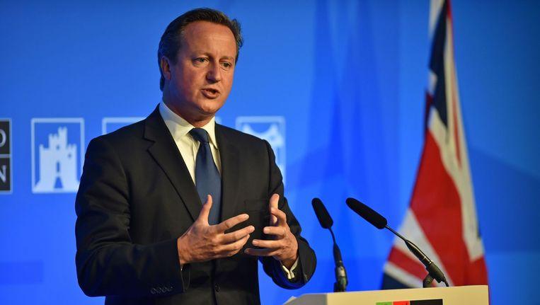 De Britse premier David Cameron. Beeld belga