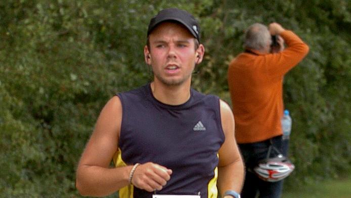 Copiloot Andreas Lubitz tijdens de halve marathon van Hamburg in 2009