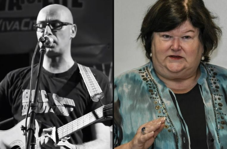 Links: Cédric Gervy. Rechts: Maggie De Block.