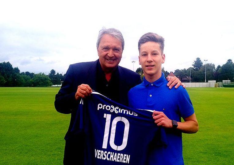 Yari Verschaeren met RSCA-manager Herman Van Holsbeeck.