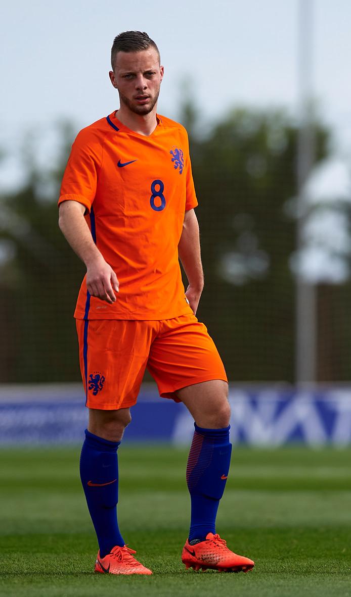 Bart Ramselaar speelde afgelopen week bij Jong Oranje.