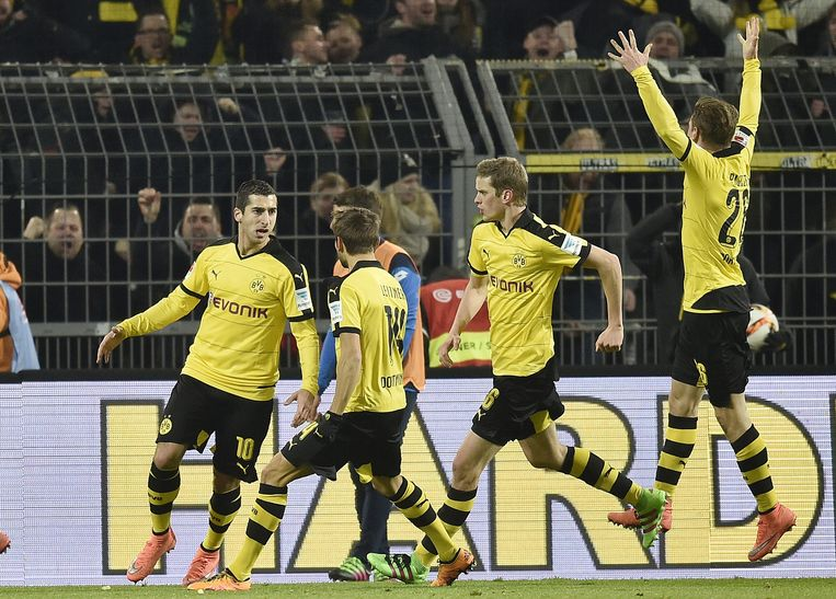 Henrikh Mkhitaryan scoorde voor Borussia Dortmund. Beeld ap