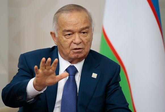 President Islam Karimov overleed aan een hersenbloeding.