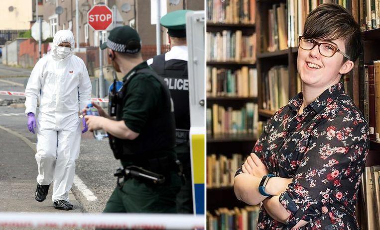 """Lyra McKee is gisteren omgekomen bij een """"terroristisch incident"""" in een buitenwijk van de Noord-Ierse stad Londonderry."""