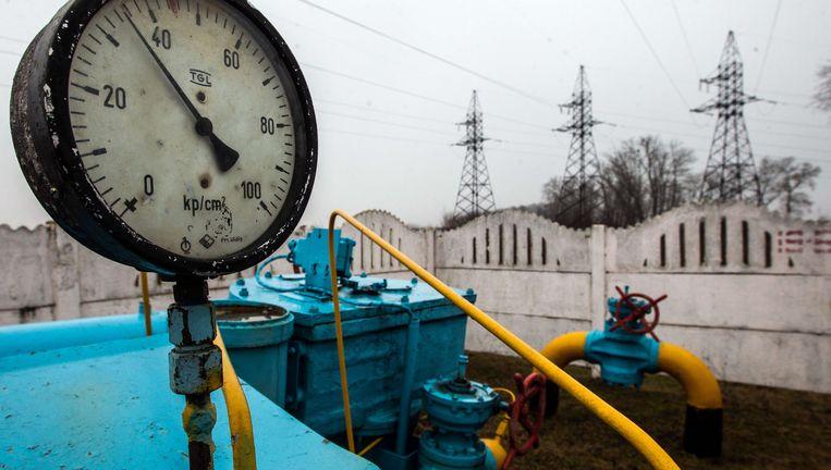 Een gasstation nabij Kiev.
