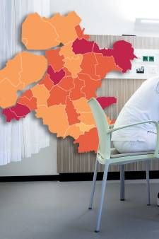 KAART | Coronavirus verliest terrein in Oost-Nederland, spectaculaire afname in Flevoland