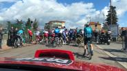 KOERS KORT. Bouhanni komt buiten tijd aan in ploegentijdrit Tirreno - Passerende trein houdt peloton op in Parijs-Nice