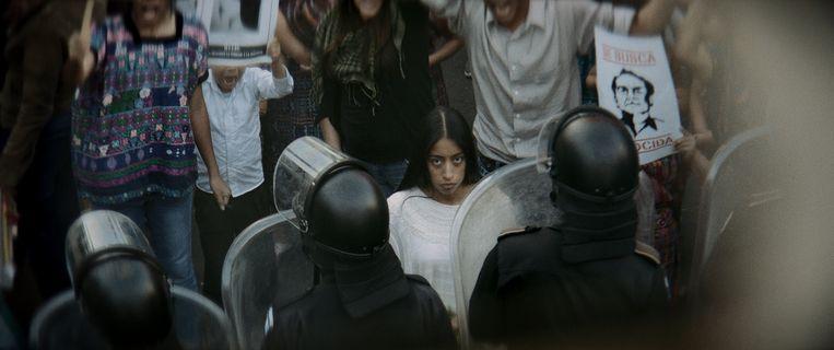 María Mercedes Coroy in La llorena van Jayro Bustamante. Beeld