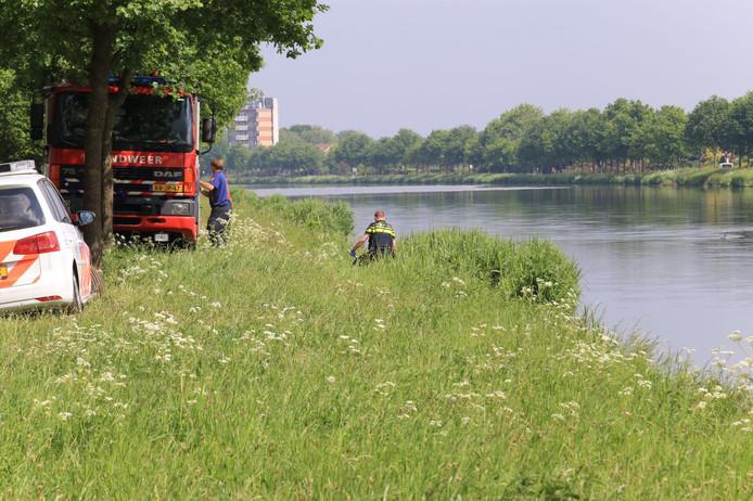De vindplaats van het lichaam van Bart Hillen uit Helmond.