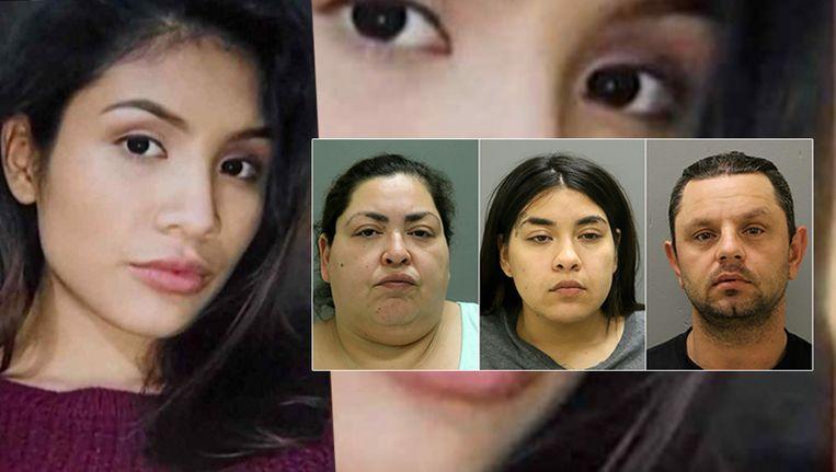 Clarisa Figueroa (46) en haar dochter Desiree (24) worden verdacht van de gruwelmoord op de 19-jarige Marlen Ochoa-Lopez (links). Piotr Bobak, de vriend van Clarisa, hielp het lichaam te verbergen.