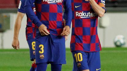 """Piqué na puntenverlies somber over titelkansen Barcelona: """"We hebben het niet langer in eigen handen"""""""
