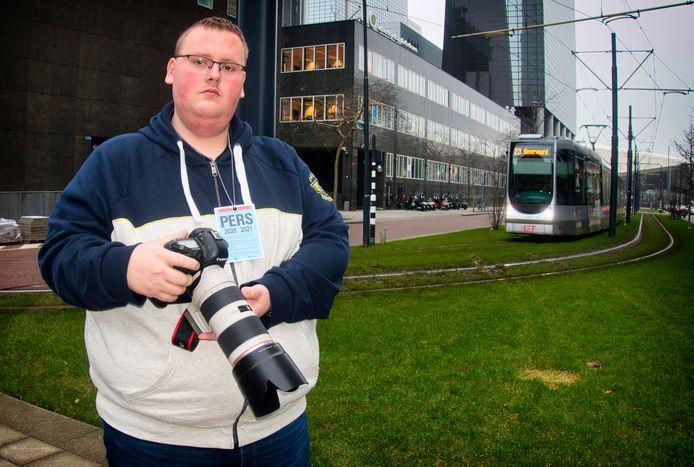 Joey Bremer van MediaTV. De nieuwsfotograaf wil zijn naam gezuiverd zien.