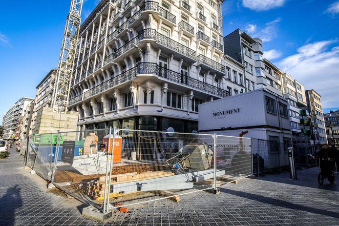 Oostende Ensormuseum in opbouw