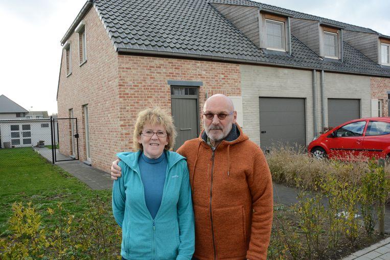 Marina Apers en Guido Van de Walle bij hun nieuwbouwwoning in Kieldrecht