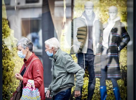 Mondkapjes op straat. Foto ter illustratie.