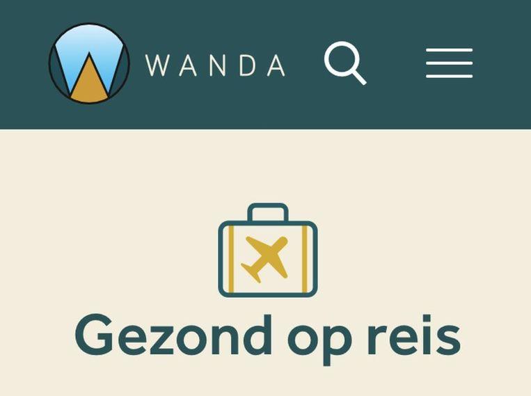 Wanda, de app van het Tropisch Instituut voor Geneeskunde in Antwerpen.