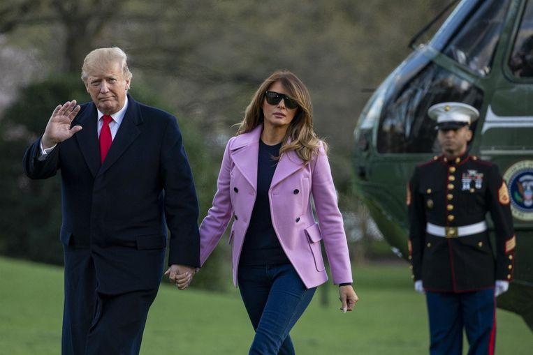 Donald Trump en zijn vrouw Melania.