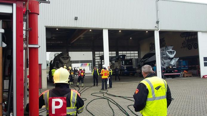 Brandweeroefening op bedrijventerrein Nieuwerkerk
