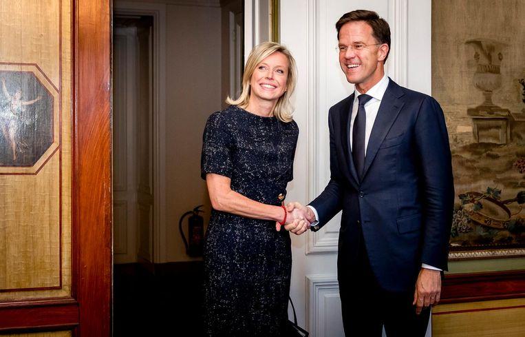 Kajsa Ollongren op bezoek bij Mark Rutte Beeld anp