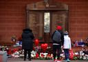 De Hillsborough-gedenkplaats eerder vandaag.
