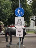 Onduidelijke verkeersborden bij de Brink in Baarn.