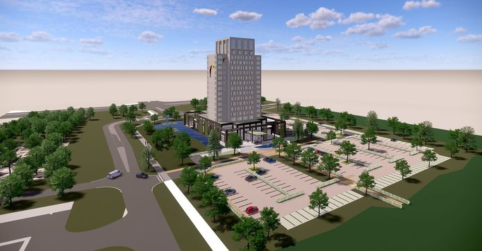 Zo moet het nieuwe Van der Valk Hotel bij Lelystad eruit komen te zien.