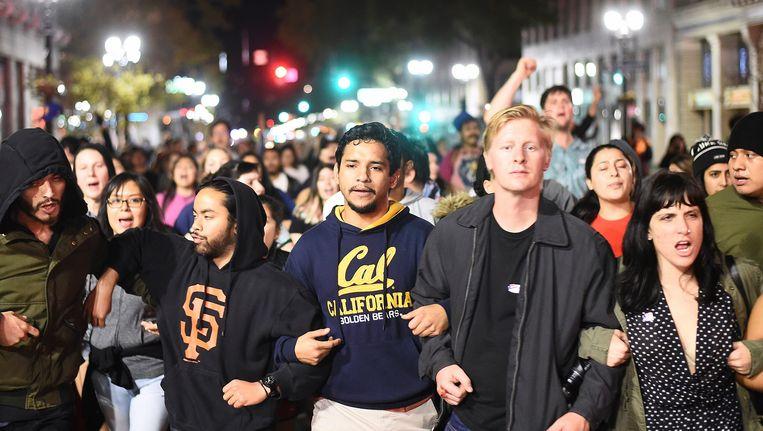 Betogers in Oakland Beeld reuters