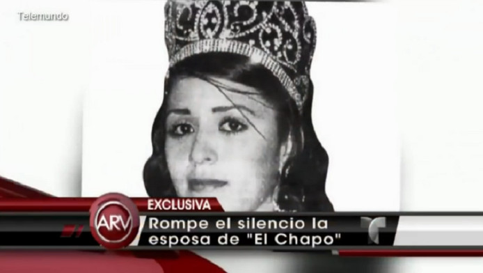 Emma Coronel tijdens een missverkiezing.