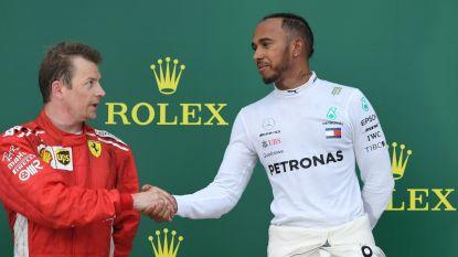 """Afscheid Räikkönen klinkt luider en luider, Hamilton vol bewondering: """"Op de PlayStation koos ik altijd voor Kimi"""""""