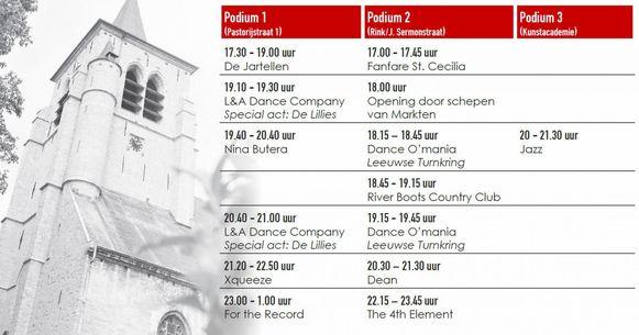 Het volledige programma van Leeuw Rinkt in Sint-Pieters-Leeuw.