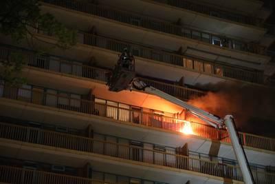 Gewonden bij brand in flat Zoetermeer