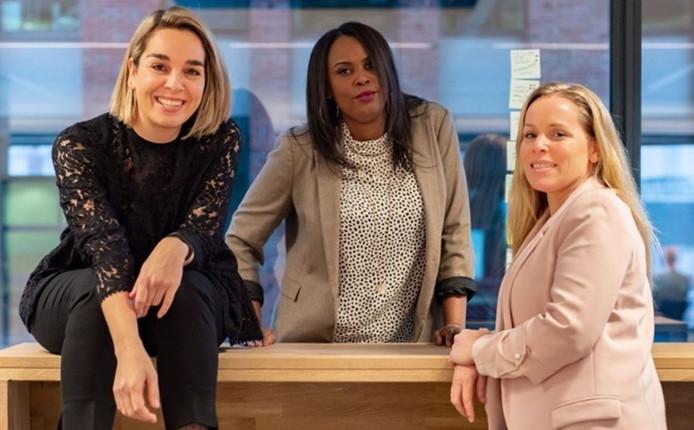 V.l.n.r.: Sharita Boon, Nancy Poleon en Elles van Teylingen.