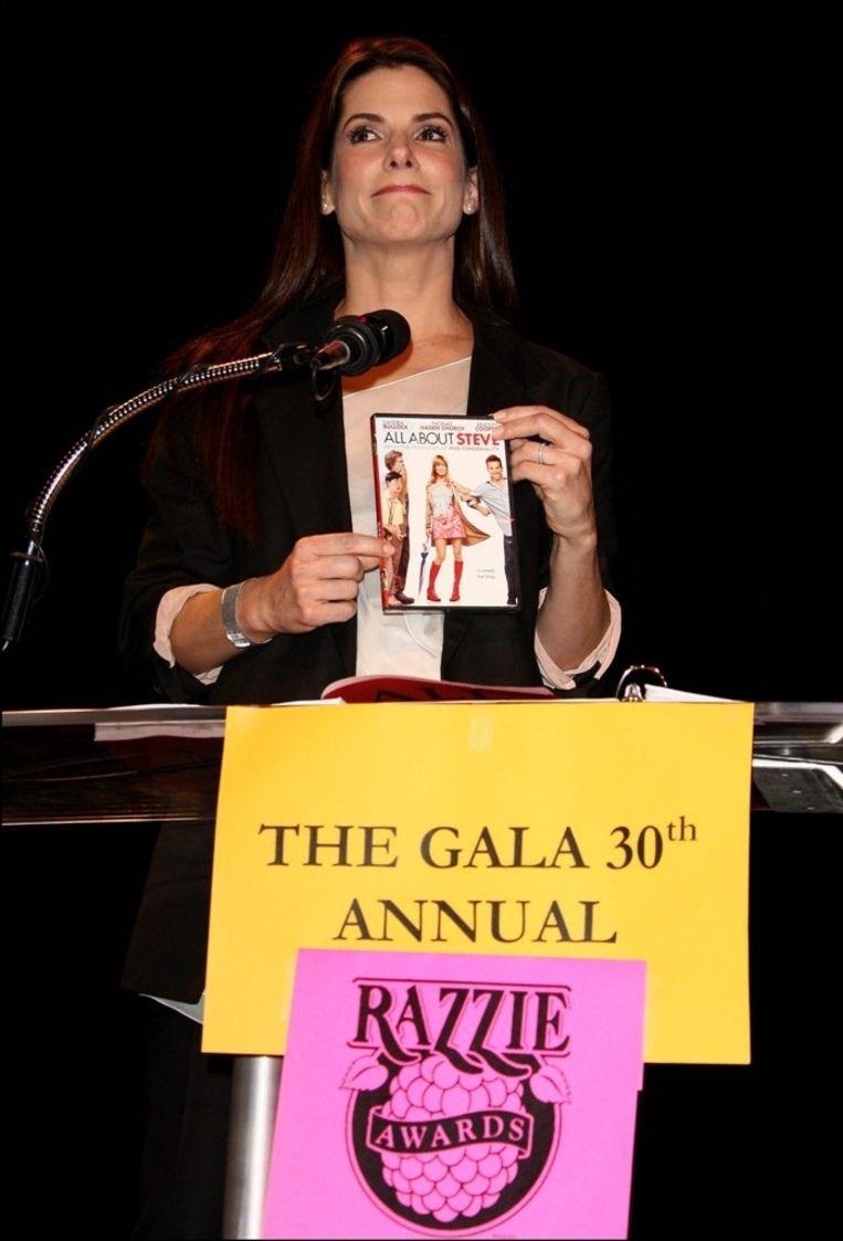 Sandra Bullock op de Razzies