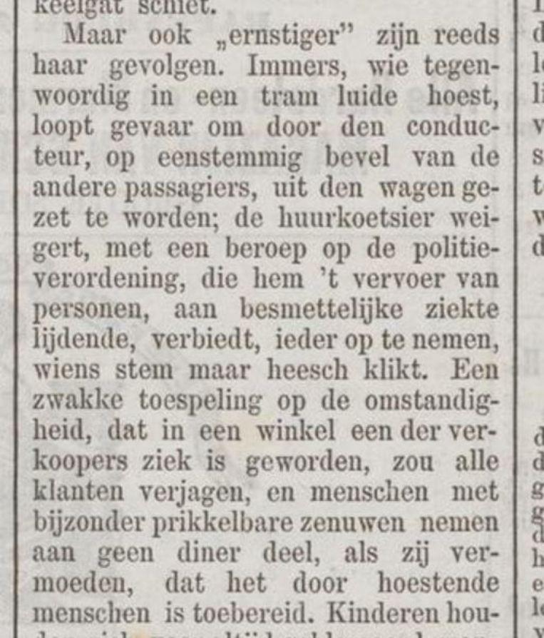 Uit De Tijd, januari 1890. Beeld Delpher.nl