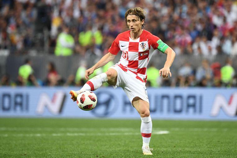 De beste speler van het WK: Luka Modric. Beeld AFP