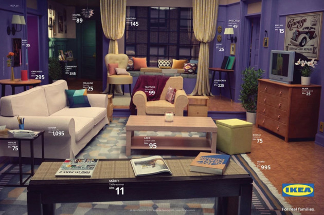 De woonkamer van Monica uit Friends