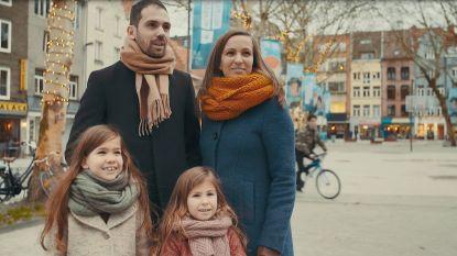 Winter in Antwerpen op z'n best volgens papa Kris, mama Aske en dochters Lone (5) en Rikke (7,5)