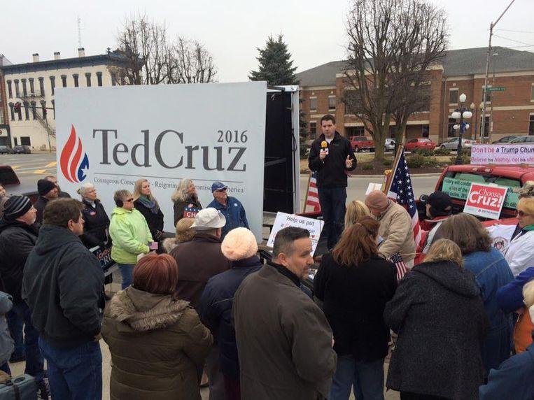 Goodman tijdens een campagne voor Ted Cruz.