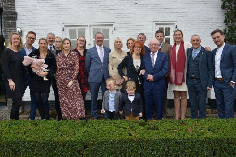 Wilfried Bossaert en Christina Bearelle vierden met vrienden en familie