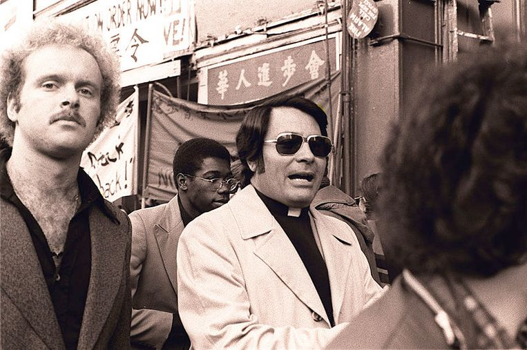 Sekteleider Jim Jones in 1977 in San Fransisco.