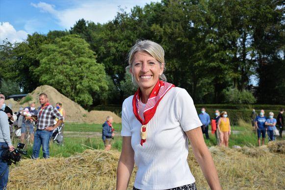 Ilse Uyttersprot op een van de laatste foto's die ze postte op Facebook, Tijdens de jaarlijkse Pikkeling (een oogstfeest) vorige week maandag.