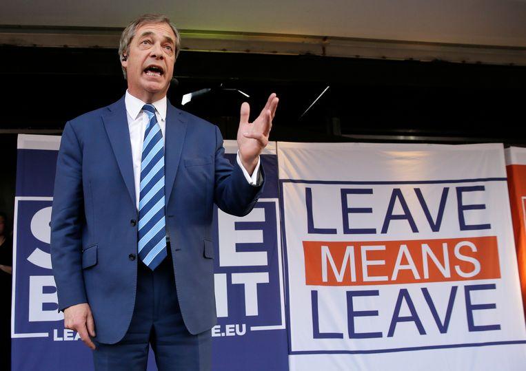 Nigel Farage, de voormalige leider van de Britse partij UKIP.