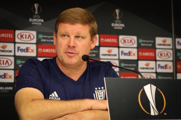 Hein Vanhaezebrouck focust zich momenteel op de Europa League-wedstrijd van morgen tegen Zagreb.