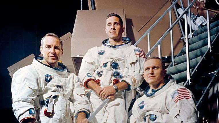 Jim Lovell, Bill Anders en Frank Borman.