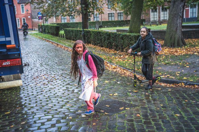 Volop Halloween bij basisschool De Muze in de Begijnhofdries.