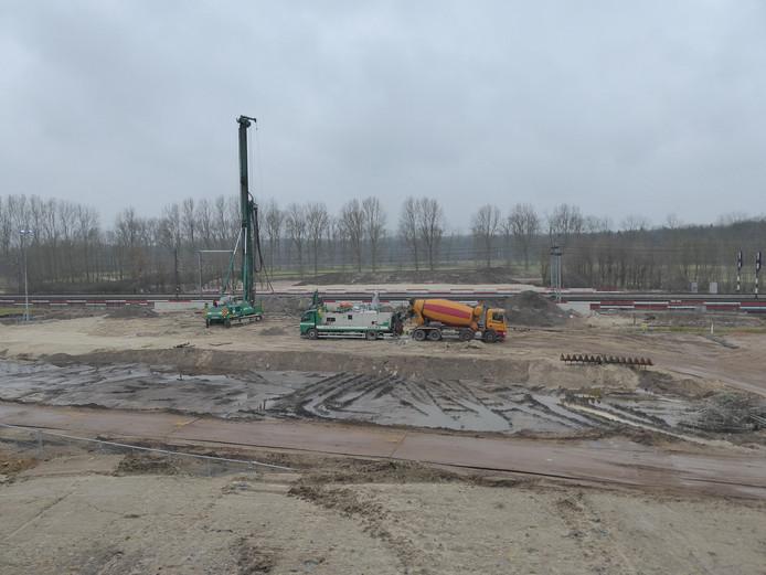 Zo zag de bouwplaats er anderhalf jaar geleden nog uit.