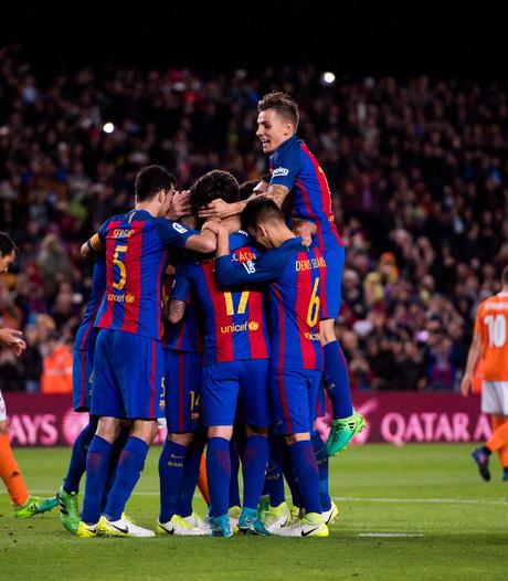 Barça (even) aan kop na monsterzege op Osasuna