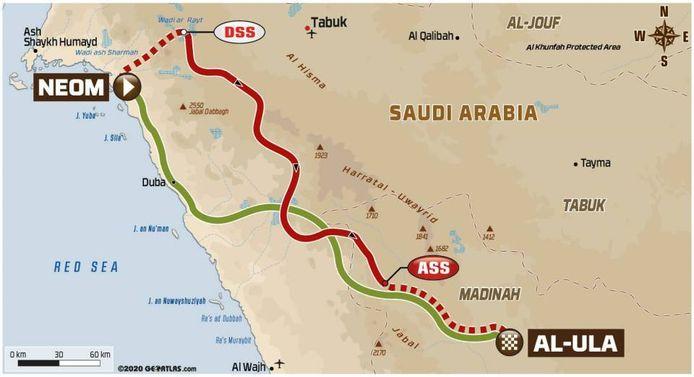 Dakar Rally 2021, routekaart etappe 10